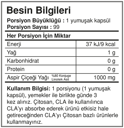 Bigjoy Sports CLAbig 1000mg 99 Kapsül